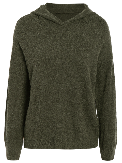 sale Long Sleeve Hoodie Sweater - ARMY GREEN ONE SIZE Mobile