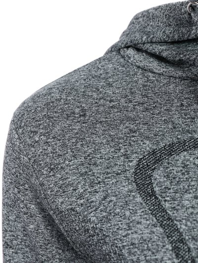 Active Zipper Sports Hooded Jacket - GRAY S Mobile