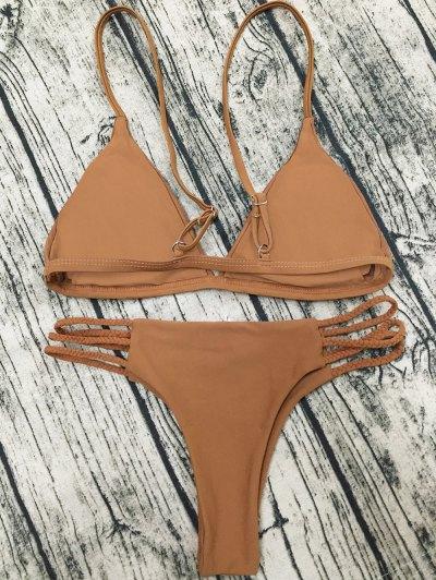 Padded Cami Bikini Set - COFFEE M Mobile