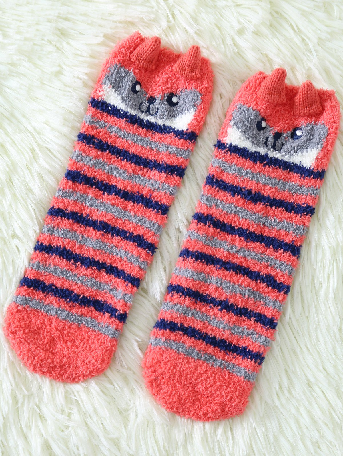 Coral Fleece Cartoon Owl Socks