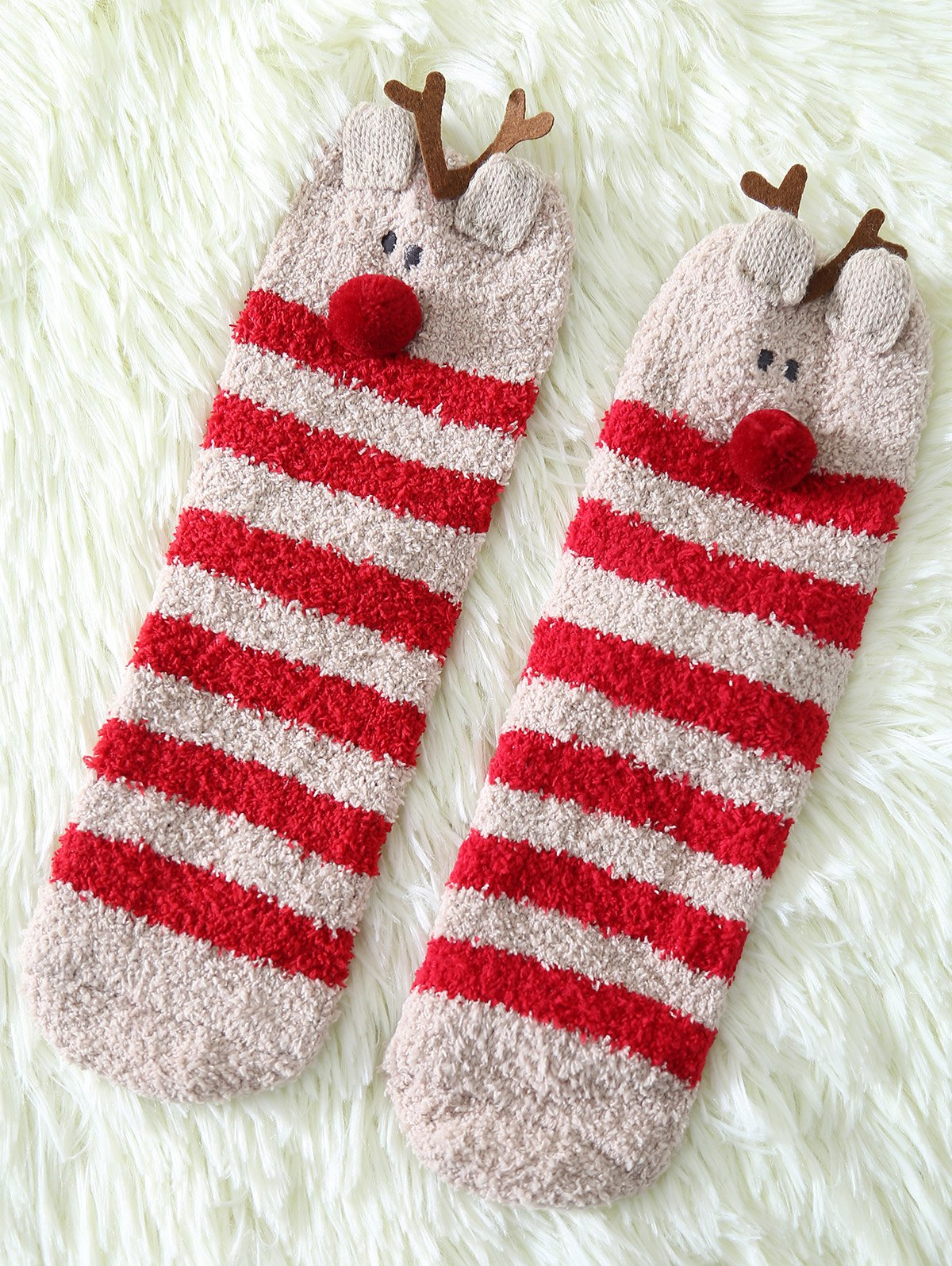 Coral Fleece Cartoon Deer Socks