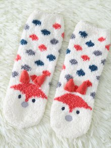 Cartoon Little Fox Coral Fleece Socks