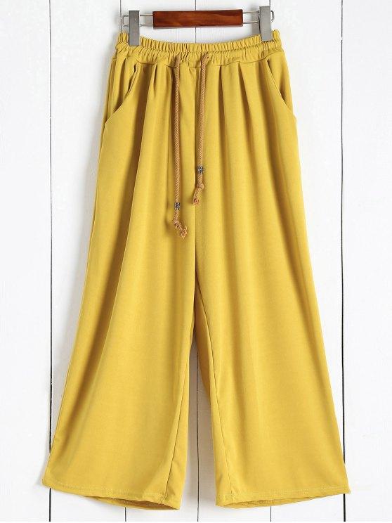 Los pantalones elásticos de la cintura Culotte - Jengibre L