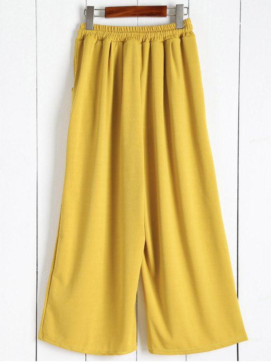 Elastic Waist Culotte Pants - GINGER M Mobile