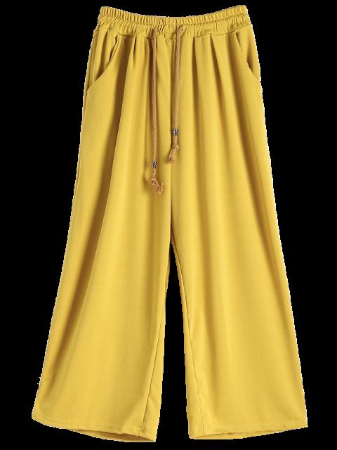 chic Elastic Waist Culotte Pants - GINGER M Mobile