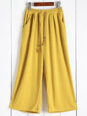 Elastic Waist Culotte Pants - Ginger