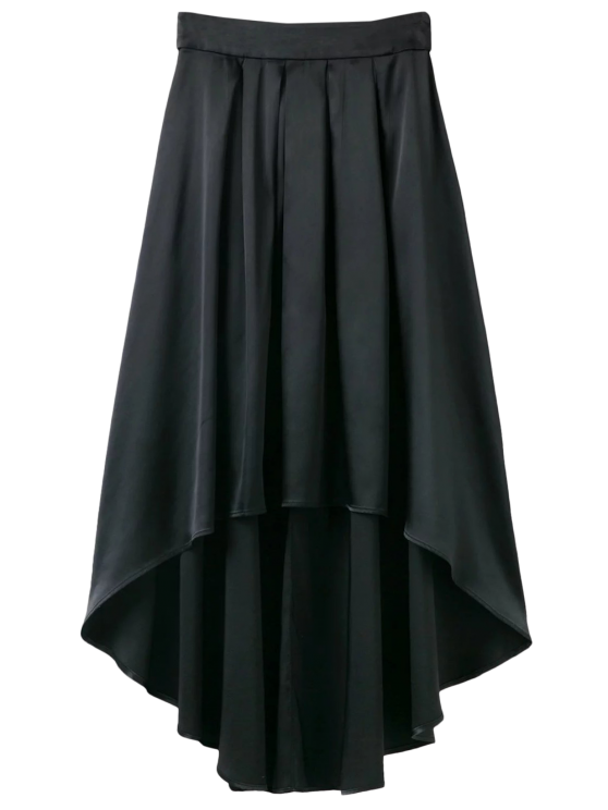 outfit Bowknot Asymmetrical Skirt - BLACK S