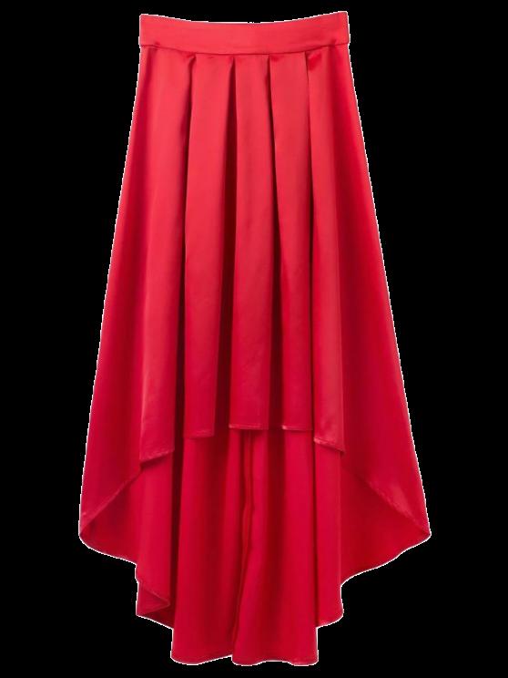 shops Bowknot Asymmetrical Skirt - RED S
