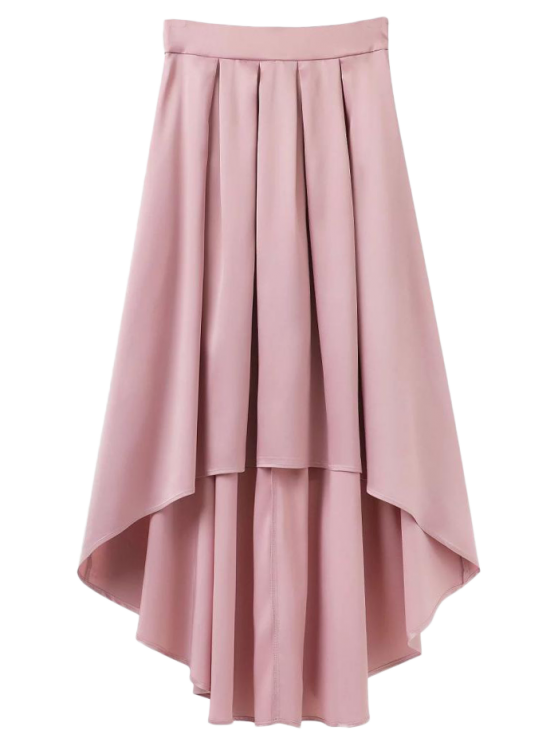 fashion Bowknot Asymmetrical Skirt - LIGHT PINK S