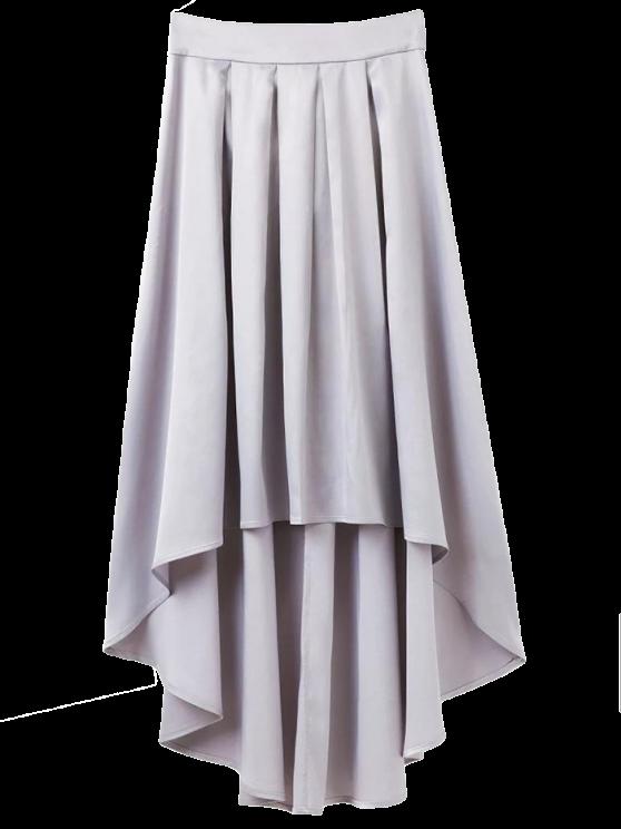 unique Bowknot Asymmetrical Skirt - LIGHT GRAY S