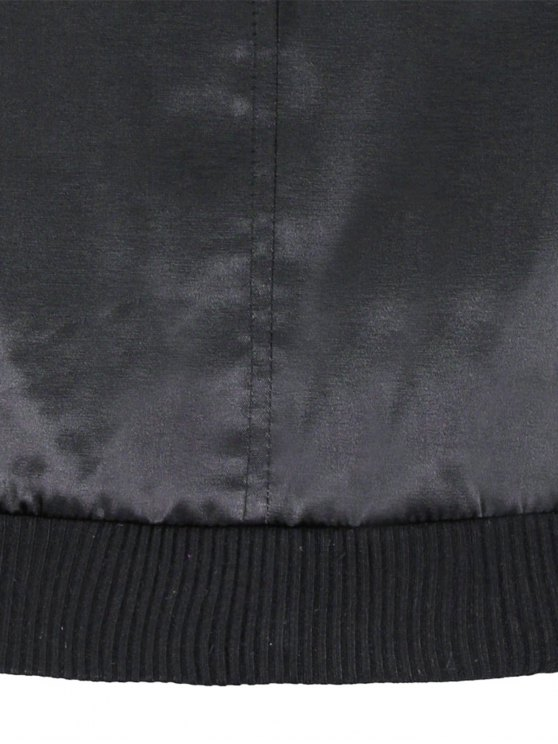 Zipped Windbreaker Jacket - BLACK XS Mobile