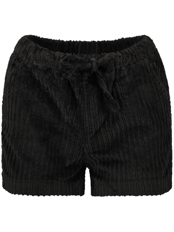 Winter Corduroy Shorts - BLACK M Mobile