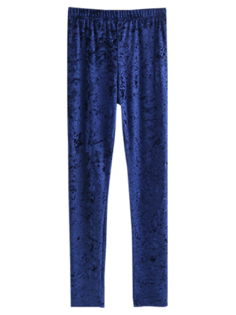 shops Skinny Velvet Leggings - CADETBLUE M Mobile