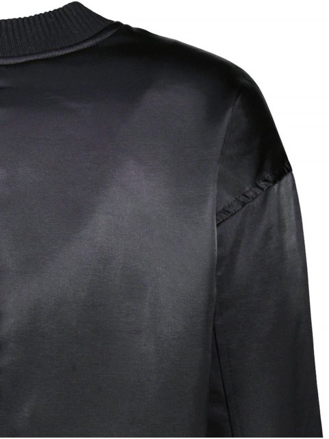 online Zipped Windbreaker Jacket - BLACK M Mobile