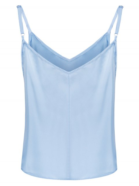 outfit Adjusted Satin Camisole - LIGHT BLUE S Mobile