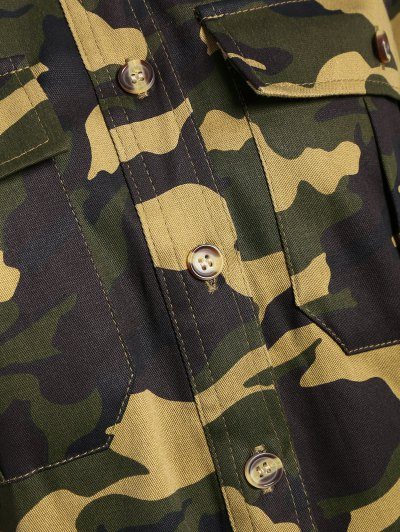 Pocket Camo Jacket - ARMY GREEN XL Mobile