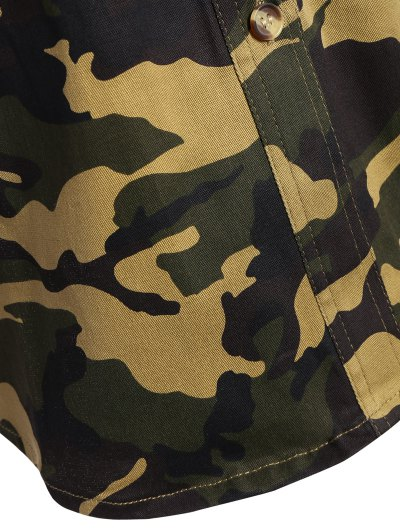 Pocket Camo Jacket - ARMY GREEN L Mobile