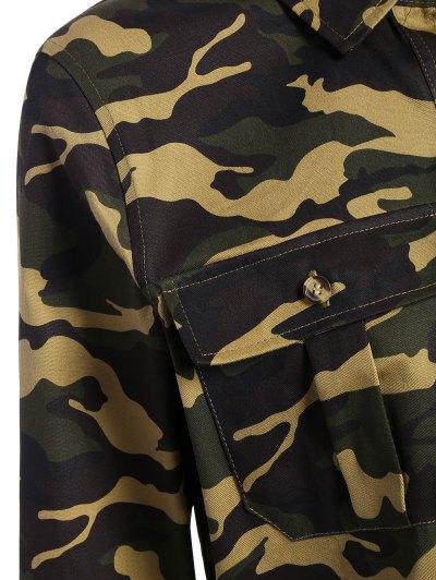 Pocket Camo Jacket - ARMY GREEN M Mobile