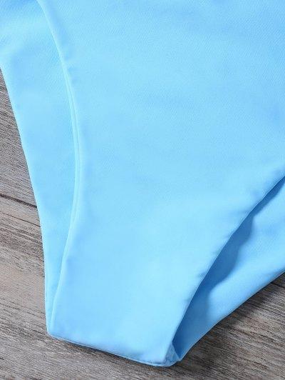 Cutout Braided Bikini Set - BLUE M Mobile