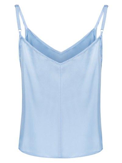 Adjusted Satin Camisole - LIGHT BLUE L Mobile