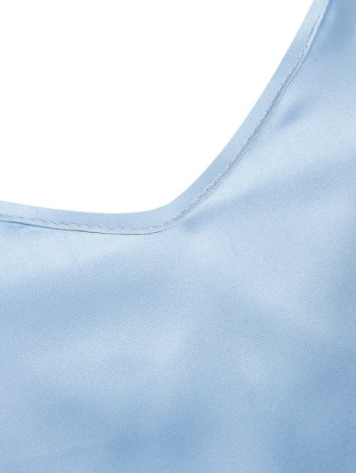 Adjusted Satin Camisole - LIGHT BLUE S Mobile