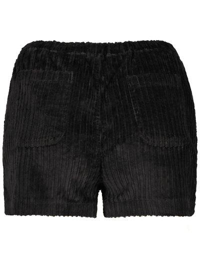 Winter Corduroy Shorts - BLACK S Mobile