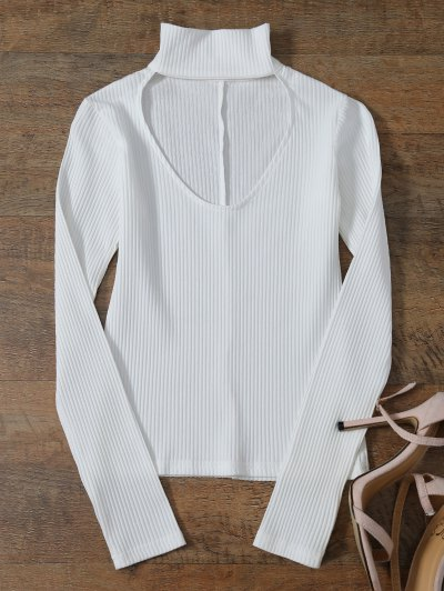 Layering Ribbed Choker Top