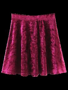 Velvet Mini A-Line Skirt