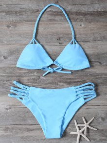 Cutout Braided Bikini Set