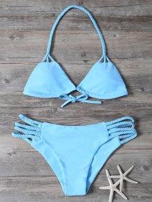 Cutout Braided Bikini Set