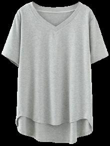High Low V Neck T-Shirt