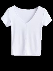 Cropped Knitting T-Shirt