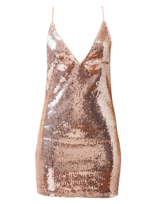 Backless Slip Sequins Sexy Bodycon Dress