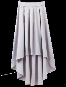 Bowknot Asymmetrical Skirt - Light Gray M
