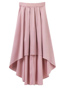 Bowknot Asymmetrical Skirt - Light Pink S