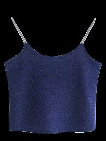 Glitter Cropped Cami Top