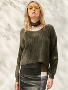 Zippered Cropped Jumper With Choker