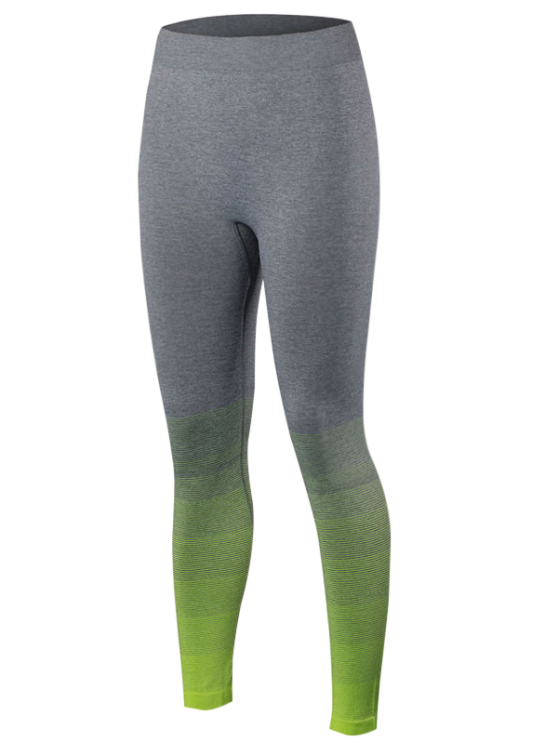 Dri-Fit Dégradé Couleur Sport Leggings - Fluorescent Jaune L