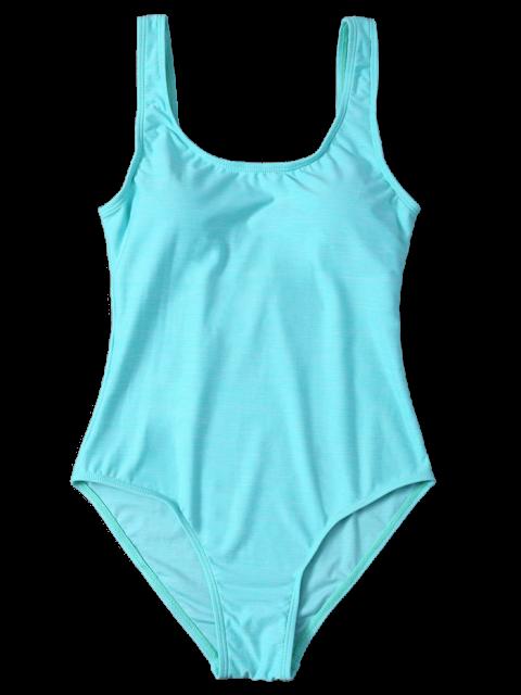 womens Backless Straps Padded Swimwear - LAKE GREEN XL Mobile