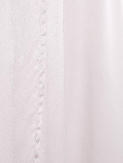 Thigh Split Maxi Plunge Dress - APRICOT XL Mobile