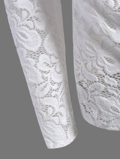 Fitting Off The Shoulder Lace Blouse - WHITE S Mobile