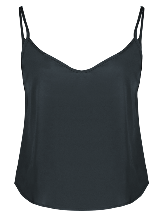 Adjusted Satin Camisole - BLACK L Mobile