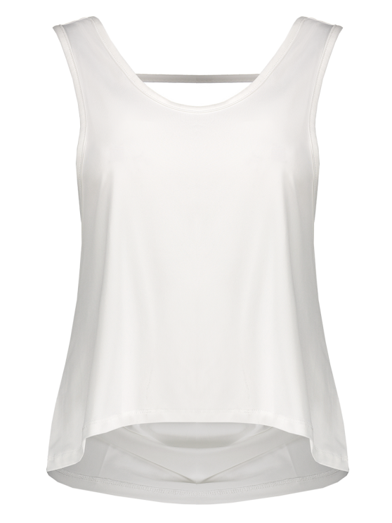 Back Strap Relaxed Tank Top - WHITE S Mobile