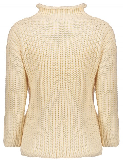 best Turtleneck Ripped Chunky Jumper - OFF-WHITE ONE SIZE Mobile