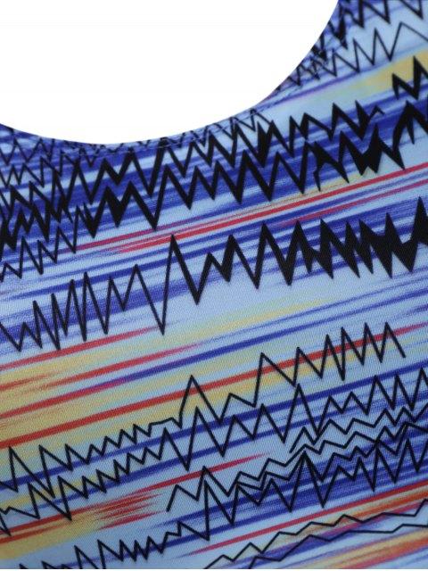 shop Backless Tankini Swimsuits - BLUE 2XL Mobile