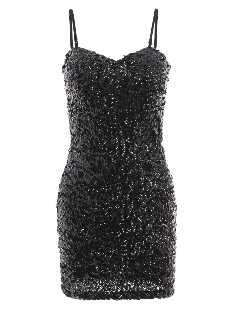 new Mini Slip Sequins Dress - BLACK ONE SIZE(FIT SIZE XS TO M) Mobile