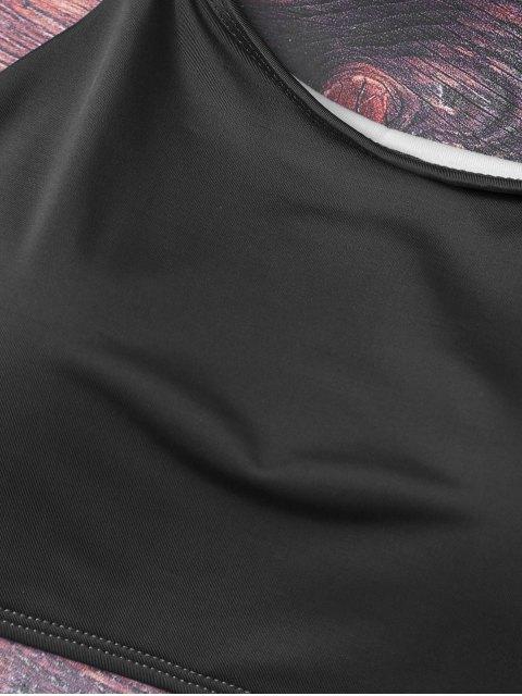 womens Cute Padded Criss Cross Bathing Suit - BLACK XL Mobile