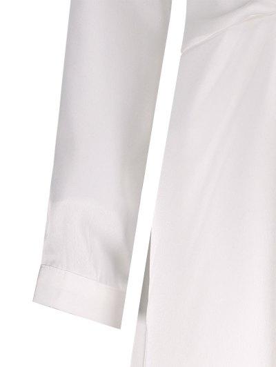 Plunge Neck Jersey Mini Dress - WHITE S Mobile