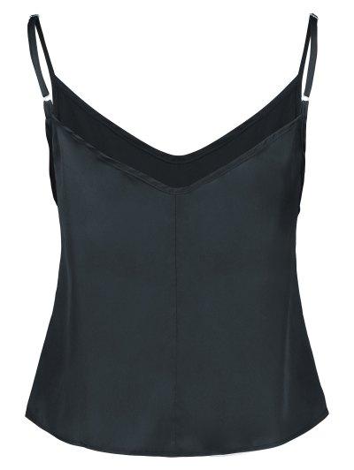Adjusted Satin Camisole - BLACK M Mobile
