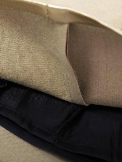 Metal Colour PU Leather Mini Skirt - GOLDEN S Mobile